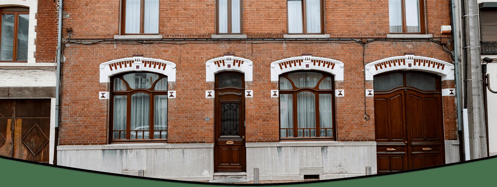 porte semivitrée